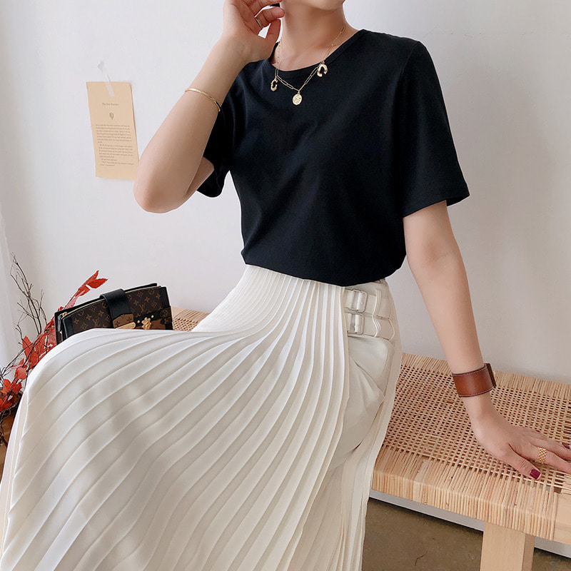 (bloggerbok supima cotton tshirt(black)