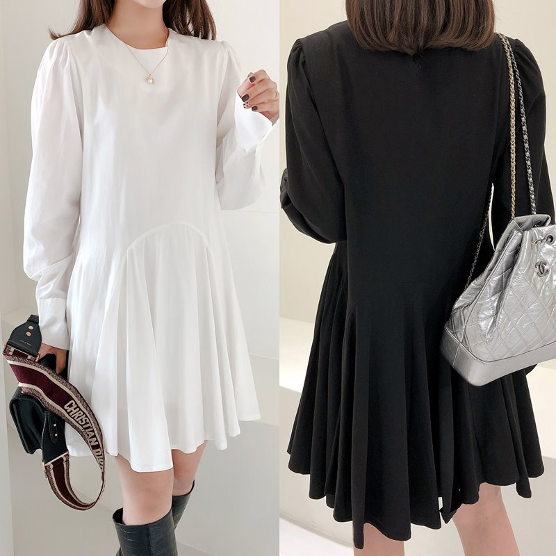 flare shirt dress(2color)