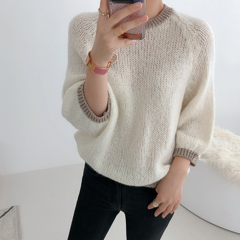 vanessa metal point knit(2color)