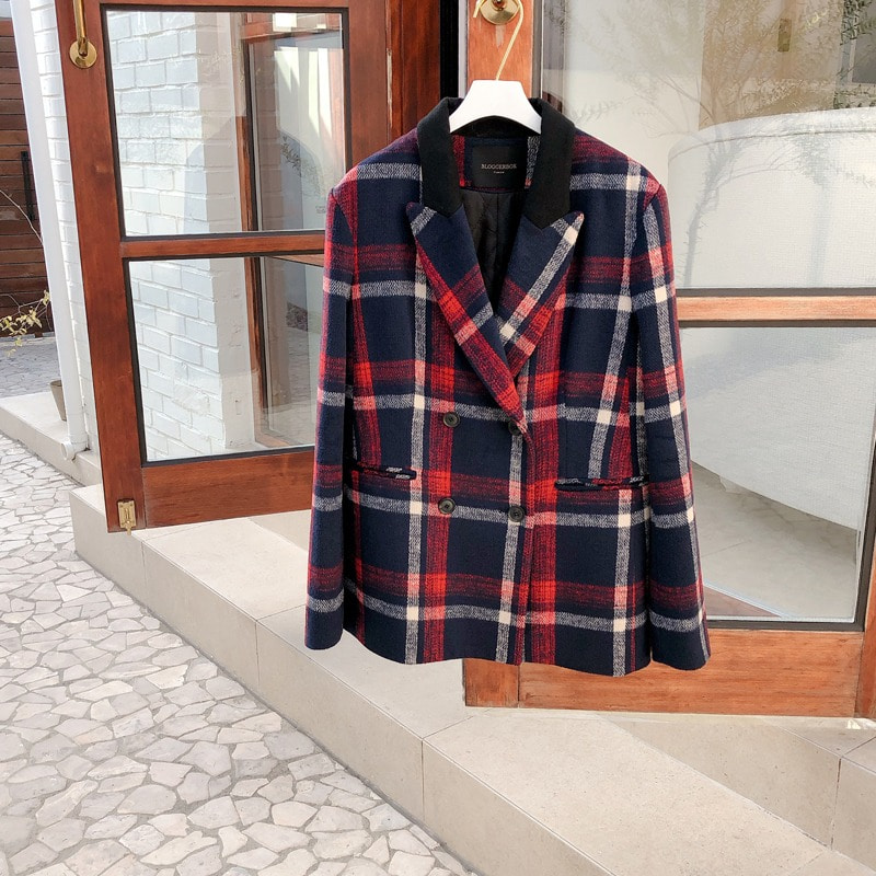 bloggerbok chouette check jacket