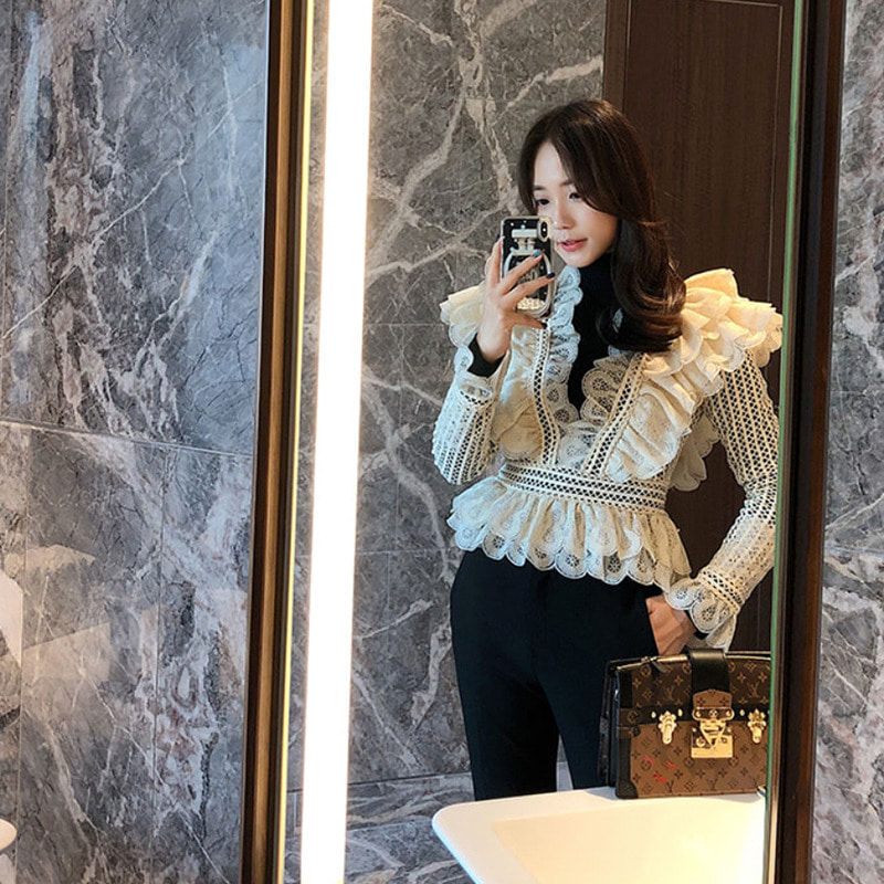 zimmermann frill embroidery blouse