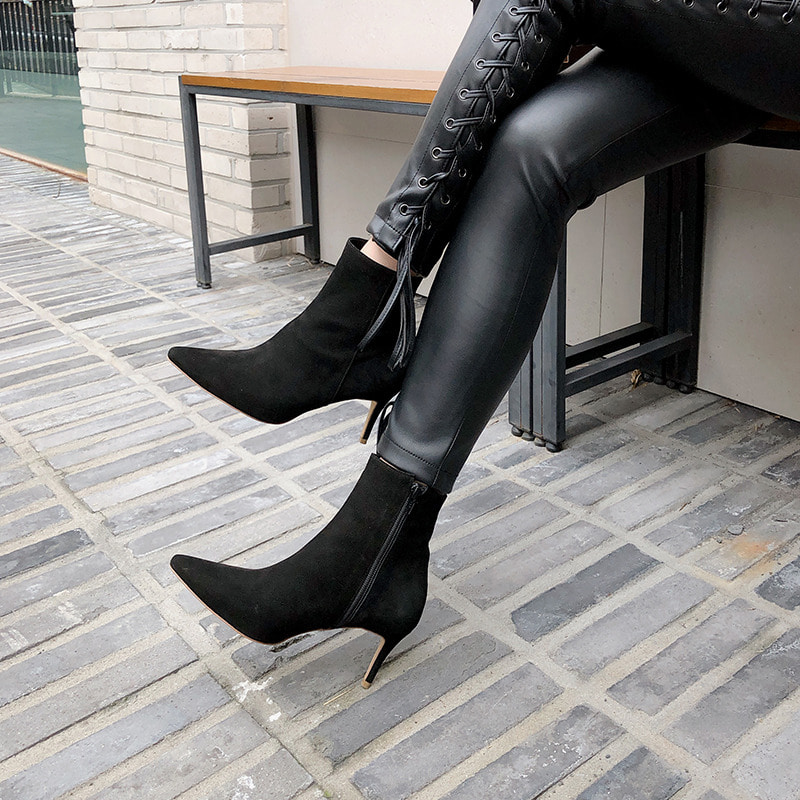 bloggerbok french ankle boots(절개없는 디자인)