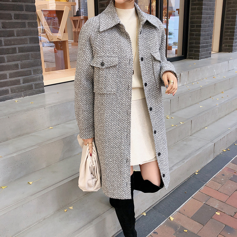 vibe tweed coat
