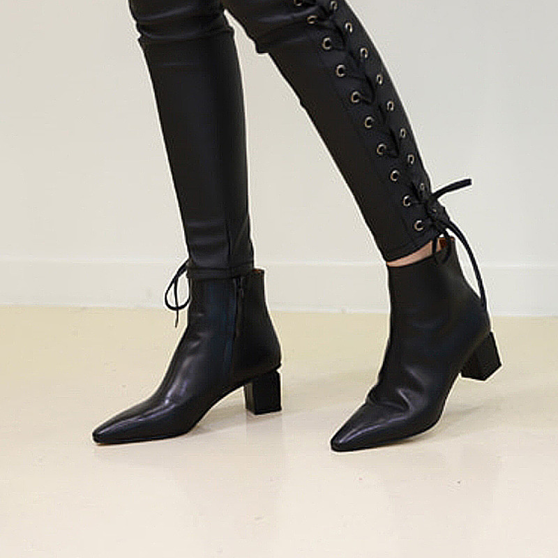 modern ankle boots(black)