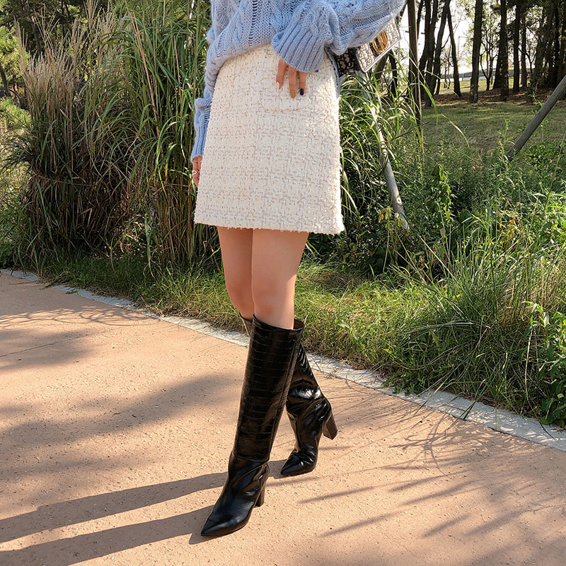 attractive long boots