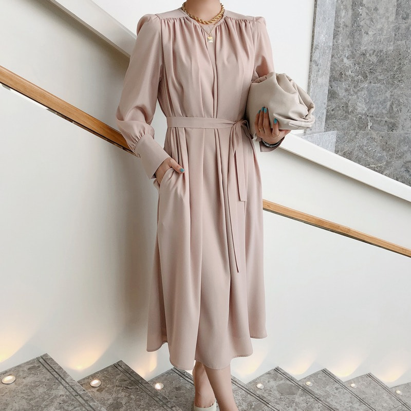 (할인이벤트로 진행♥)bloggerbok stunning shirring dress