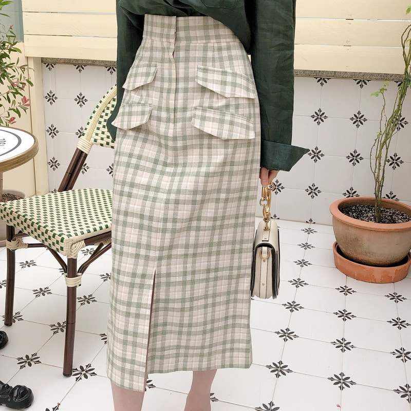 07일까지 앵콜진행/summer check skirt(2color)