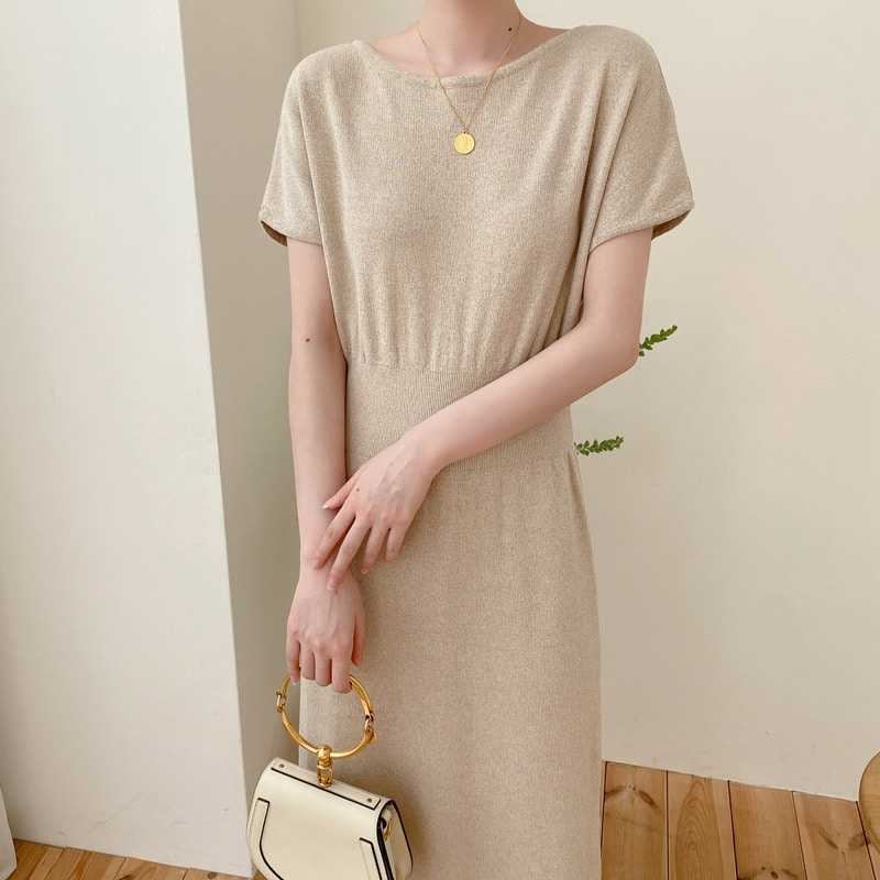 07일까지 앵콜진행/boatneck knit dress(2color)
