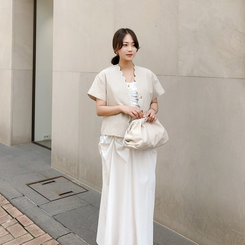 wave linen jacket(2color)