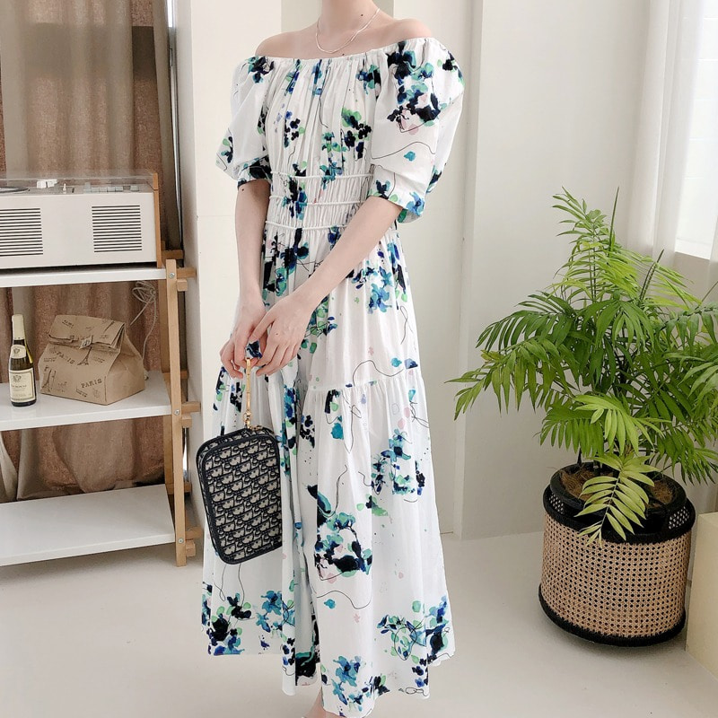 07일까지 앵콜진행/blooming off shoulder dress(2color)