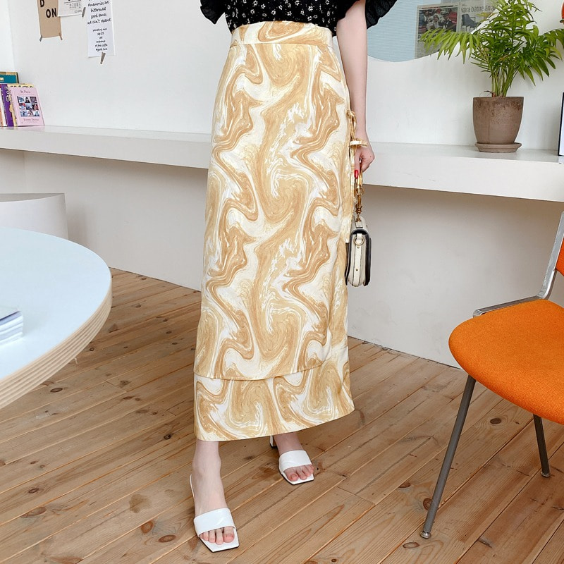marbling ribbon skirt