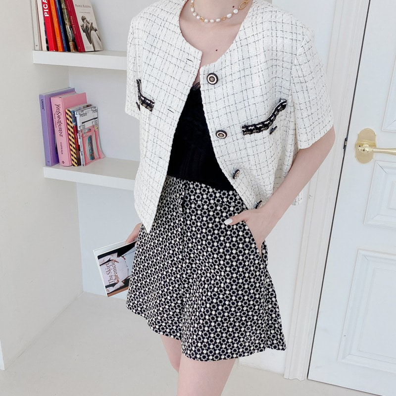 summer romantic tweed jacket(2color)