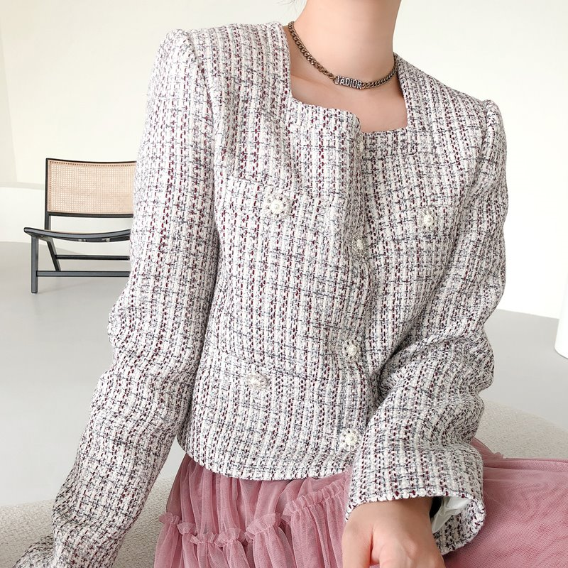 miu crop tweed jacket