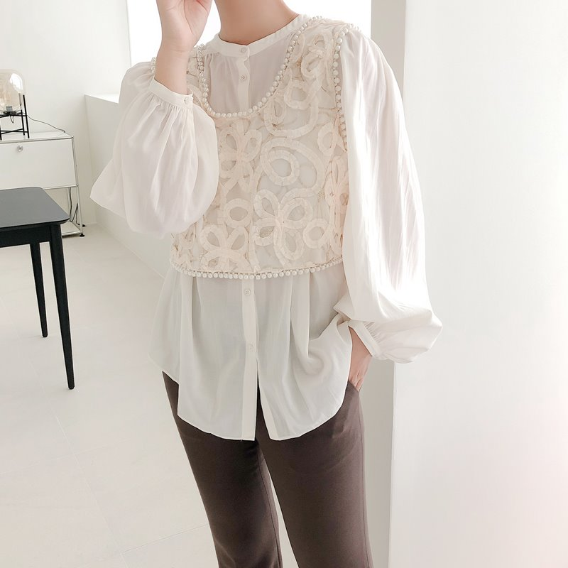 lemaire shirring blouse