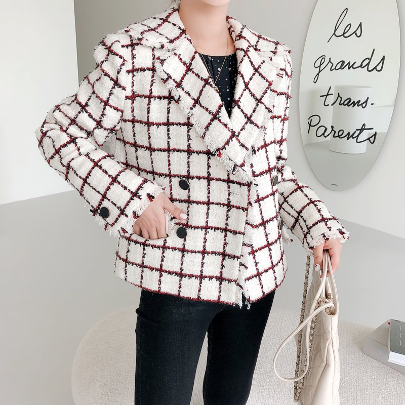 gabriel collar tweed jacket(ivory)