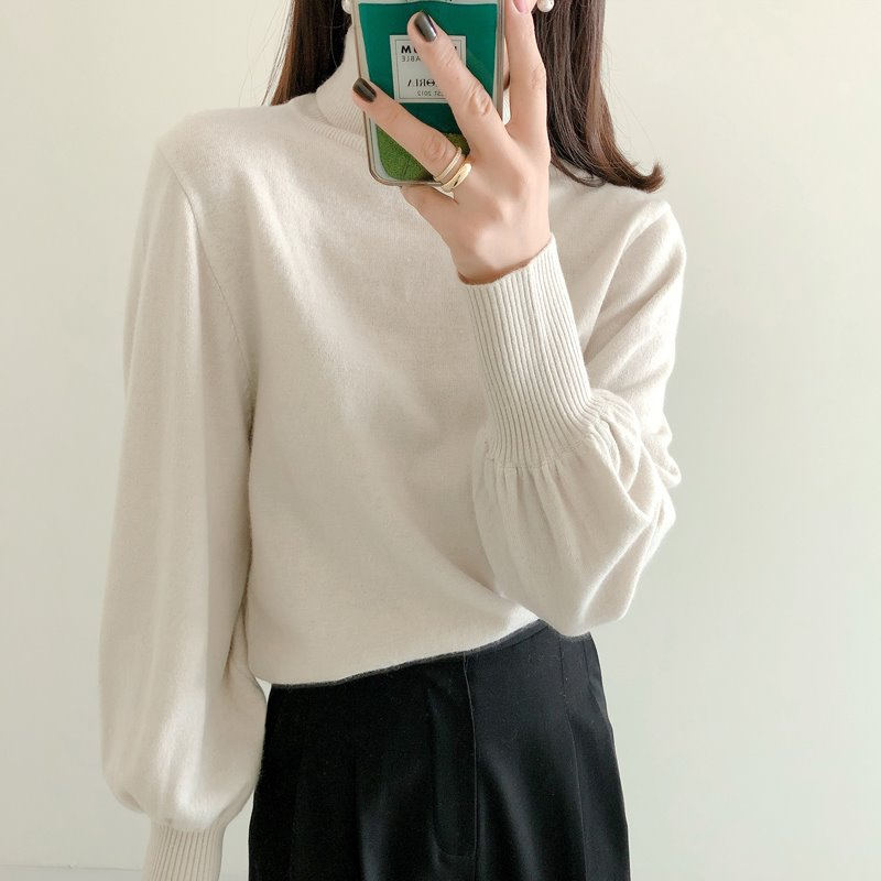 volume turtleneck knit(아이, 그린, 블랙)