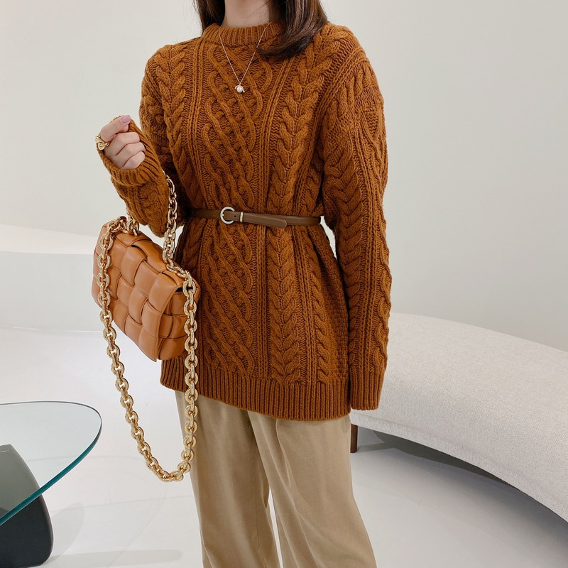 celine cable long knit