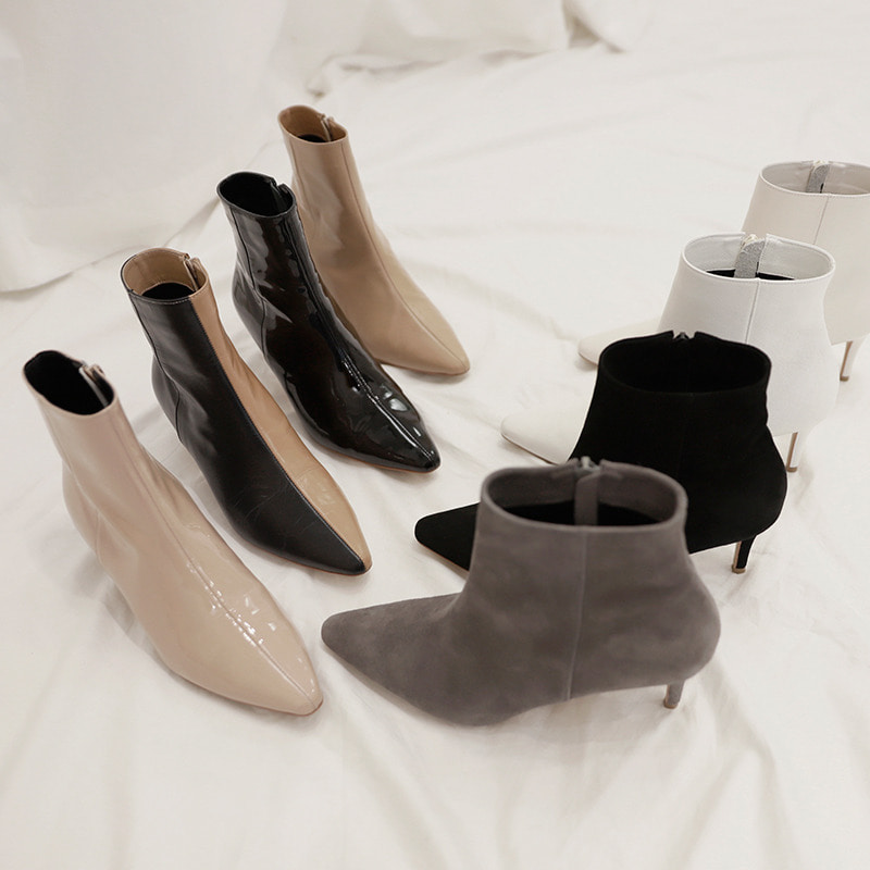bloggerbok french ankle boots(절개디자인)