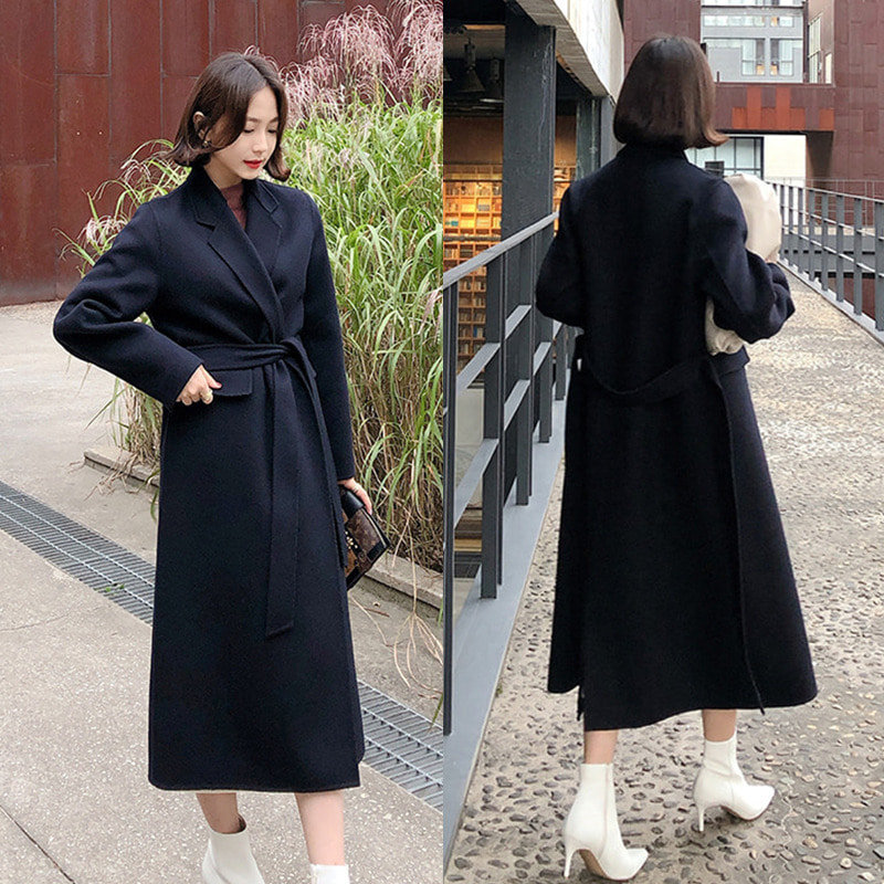 (2차한정수량.특별 5만원 할인이벤트!)bloggerbok classic lapel handmade coat(royal navy)