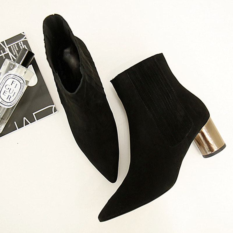 chic suede chelsea boots