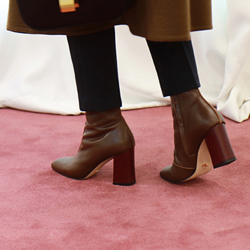 brown sensual ankle boots