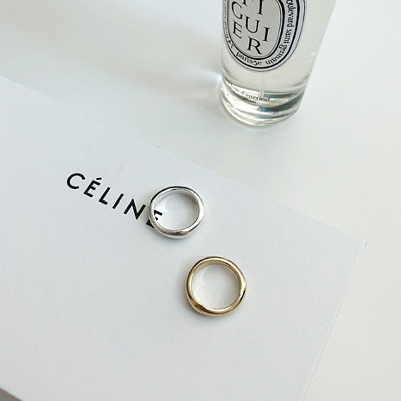 celine wave silver ring(2color)