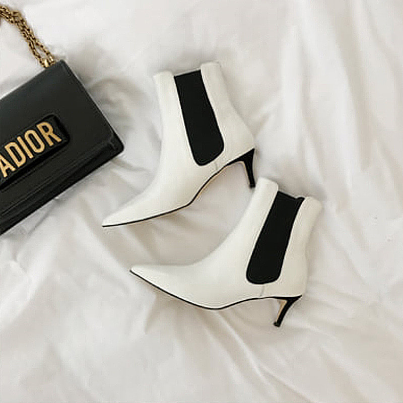 celine white ankle boots
