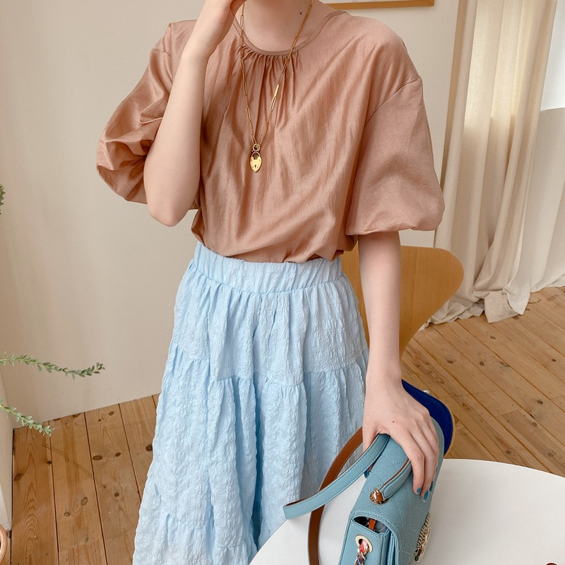 lemaire shirring blouse(2color)