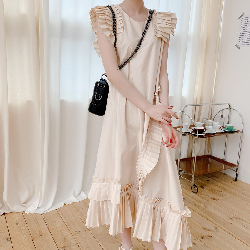 07일까지 할인진행♥pleat unbal dress(2color)