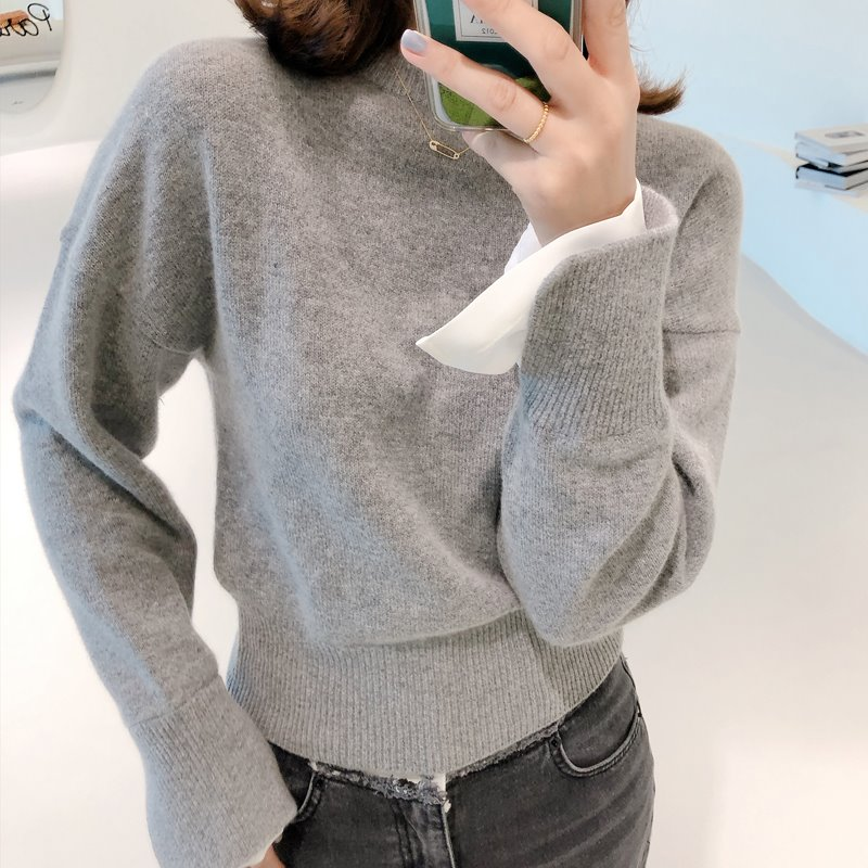 drop chic knit(gray)