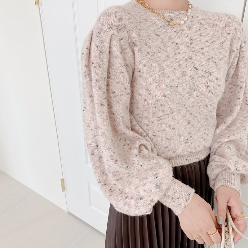 isabel puff knit(pink)