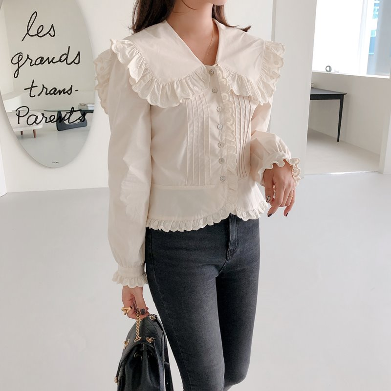 romantic sailor collar blouse