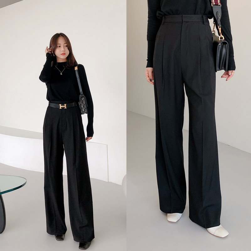 한정수량8%할인/bloggerbok perfect wide slacks(black)