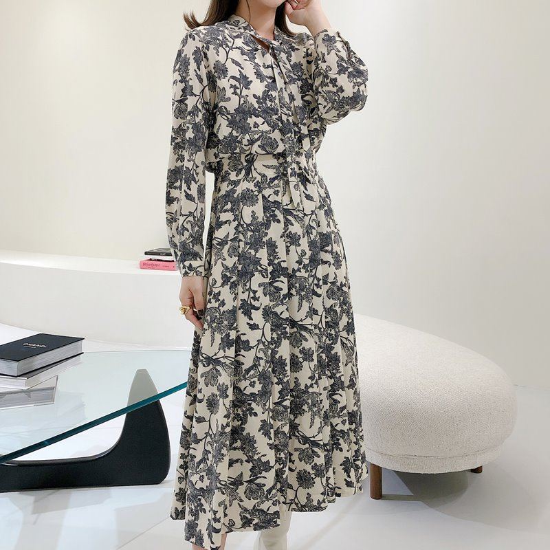 flower tie dress(2color)